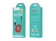 Cablu Date si Incarcare USB la MicroUSB HOCO Superior X29, 1 m, Rosu, Blister
