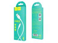 Cablu Date si Incarcare USB la MicroUSB HOCO Soarer X25, 1 m, Alb, Blister