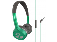 Handsfree Casti On-Ear iFrogz Toxix Plus, Cu microfon, 3.5 mm, Verde, Blister