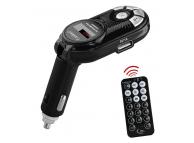 Emitator FM Bluetooth Earldom M1,1xUSB, 2.1A, Negru, Blister