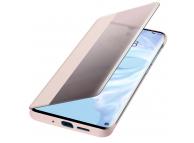 Husa Poliuretan Huawei P30 Pro, Flip View Cover, Roz, Blister 51992884