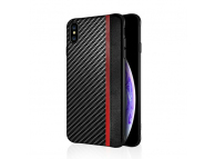 Husa Piele - TPU OEM Carbon Mulsae pentru Samsung Galaxy S9 G960, Neagra, Bulk