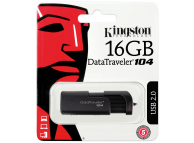Memorie Externa Kingston Data Traveler DT104, USB 2.0, 64Gb, Neagra, Blister DT104/64GB