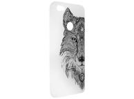 Husa TPU OEM Trendy Wolf pentru Samsung J6 Plus (2018) J610, Gri - Transparenta, Bulk