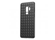 Husa TPU Baseus Weave pentru Samsung Galaxy S9+ G965, Neagra, Blister WISAS9P-BV01