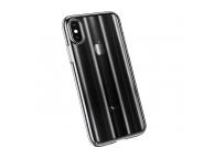 Husa Plastic Baseus Aurora Ombre pentru Apple iPhone X / Apple iPhone XS, Neagra, Blister WIAPIPH58-JG01
