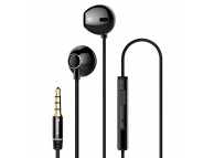 Handsfree Casti EarBuds Baseus Encok H06, Cu microfon, 3.5 mm, Negru, Blister NGH06-01