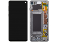 Display - Touchscreen Samsung Galaxy S10 G973, Cu Rama, Argintiu (Prism White) GH82-18850B