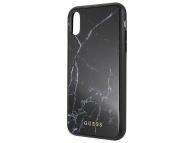 Husa TPU Guess Marble pentru Apple iPhone XS Max, Neagra, Blister GUHCI65HYMABK