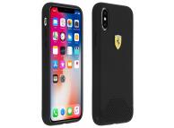 Husa TPU Ferrari pentru Apple iPhone X / Apple iPhone XS, Neagra, Blister FESGRHCPXBK