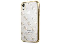 Husa TPU Guess 4G pentru Apple iPhone XR, Aurie - Transparenta, Blister GUHCI61TR4GG
