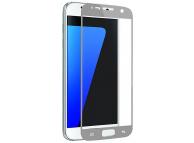 Folie Protectie Ecran OEM pentru Samsung Galaxy S7 G930, Sticla securizata, Full Face, 3D, Argintie, Blister