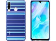 Husa Plastic Huawei P30 lite, Striped, Albastra, Blister 51993075