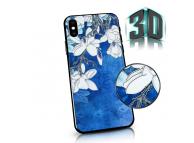 Husa Plastic - TPU OEM Spring Flowers pentru Apple iPhone X / Apple iPhone XS, Albastra, Blister
