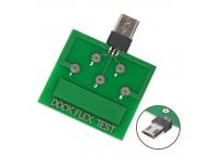 Placa MicroUSB cu 5 Pini pentru testare baterie / conector incarcare