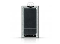 Husa Piele OEM Suede Book pentru Samsung Galaxy S9 G960, Neagra, Blister