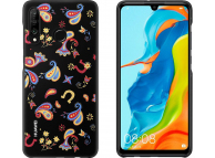 Husa Plastic Huawei P30 lite, Floral, Neagra, Blister 51993073