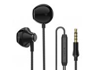 Handsfree Casti EarBuds PTM D31, Cu microfon, 3.5 mm, Negru, Blister