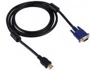 Cablu Video VGA la HDMI OEM Pentru HDD / PMP Player, 1.8 m, Negru, Bulk
