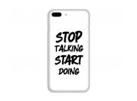 Husa TPU OEM Start pentru Samsung J6 Plus (2018) J610, Alba-Neagra, Bulk