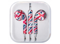 Handsfree Casti EarBuds OEM UK, Cu microfon, 3.5 mm, Multicolor, Blister