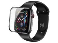 Folie Protectie Ecran Nillkin pentru Apple Watch Series 4 44mm, Sticla securizata, 3D AW+,0.33mm, 9H, Blister