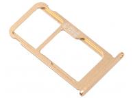 Suport Card - Suport SIM 1 / 2 Auriu Nokia 7.1 Dual SIM
