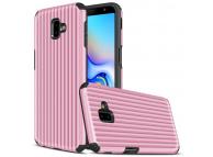 Husa Plastic - TPU OEM Travel Box pentru Samsung J6 Plus (2018) J610, Roz, Bulk