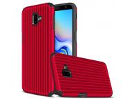 Husa Plastic - TPU OEM Travel Box pentru Samsung J6 Plus (2018) J610, Rosie, Bulk