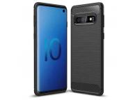 Husa TPU OEM Carbon pentru Samsung Galaxy A50 A505, Neagra, Bulk