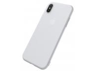 Husa Plastic Cafele Ultra-slim Matte pentru Apple iPhone X / Apple iPhone XS, Alba, Blister