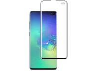 Folie Protectie Ecran Mocolo pentru Samsung Galaxy S10+ G975, Sticla securizata, Full Face, Fingerprint Unlock, Neagra, Blister