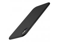 Husa Plastic Cafele Ultra-slim Matte pentru Apple iPhone X / Apple iPhone XS, Neagra, Blister