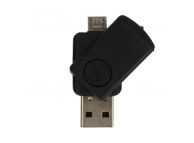 Cititor card  MicroSD USB OTG CR08,Negru Blister