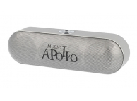 Boxa Portabila Bluetooth APOLLO S207, 2 X 3W, Radio FM, Argintie, Blister
