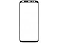 Folie Protectie Ecran OEM pentru Samsung Galaxy S8+ G955, Plastic, Full Face, Full Glue, PET, Neagra, Bulk