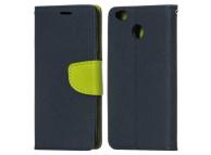 Husa Piele OEM Fancy Universala pentru Telefon 4.8 inci - 5.3 inci, Neagra - Verde, Bulk