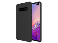 Husa TPU OEM Pure Silicone pentru Samsung Galaxy A50 A505, Neagra, Blister