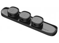 Suport birou pentru organizare cabluri Baseus Peas magnetic, Negru, Blister Original ACWDJ-01