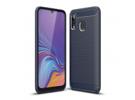 Husa TPU OEM Carbon pentru Samsung Galaxy A40 A405, Bleumarin, Bulk