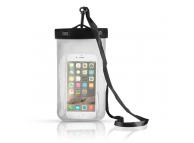 Husa OEM Waterproof pentru Telefon 6 inci, Dimensiuni interioare 155 x 95 mm, Alba, Bulk