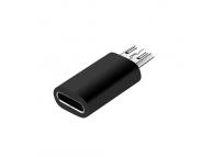 Adaptor Conversie USB Type-C (Mama) la MicroUSB (Tata) OEM, Negru, Bulk