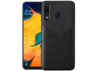 Husa Piele - TPU OEM Ultra-thin Soft pentru Samsung Galaxy A60, Neagra, Bulk