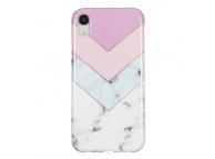 Husa TPU OEM Stitching Tricolor pentru Apple iPhone XR, Multicolor, Bulk