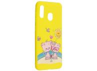 Husa TPU OEM Lovers Bear pentru Samsung Galaxy A30 A305 / Samsung Galaxy A20 A205, Multicolor, Bulk