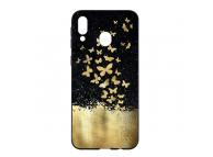 Husa TPU OEM Gold Butterfly pentru Samsung Galaxy A30 A305 / Samsung Galaxy A20 A205, Multicolor, Bulk