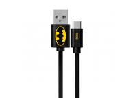 Cablu Date si Incarcare USB la MicroUSB DC Comics Batman 002, 1 m, Negru, Blister