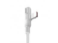 Cablu Date si Incarcare USB la Lightning Joyroom S-M392 Baige, cu LED, 1.2 m, Alb, Blister