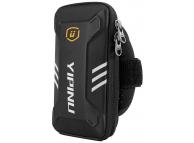 Husa Armband Yipinu Sport pentru telefon 5 - 6 inch, Dimensiuni interioare 150 x 70 mm, Waterproof, Neagra, Bulk