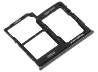Suport Card - Suport SIM 1 / 2 Negru Samsung Galaxy A40 A405 Dual SIM